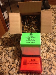 300 AAC Blackout reloading supplies